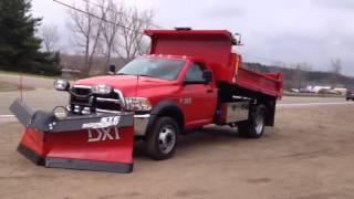 2015 Ram 5500 STE Yard Max 11ft Dump Body + BOSS 9.2 DXT Snowplow Video 1