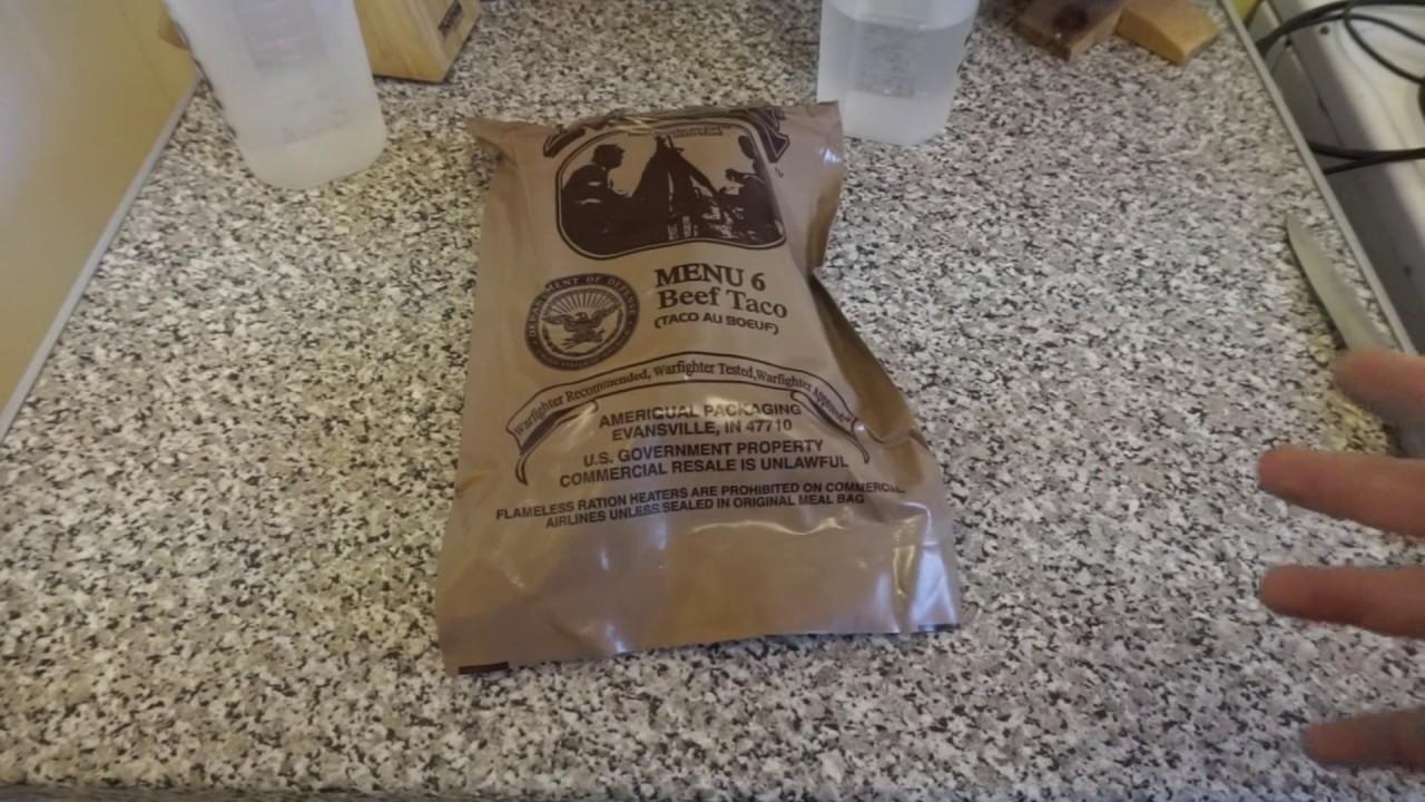 Menu 6 Beef Taco Mre