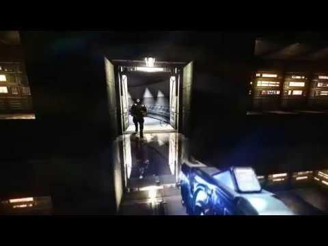 (MCS) 1.2.1.8 Internet Coop AI E1M1 Hangar GamePlay Trailer (Doom 3 Doom3)