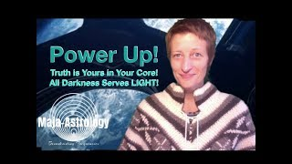 POWER UP! ALL DARKNESS SERVES LIGHT & YOUR AWAKENING IS LOVE. ASTROLOGY TODAY! 👁