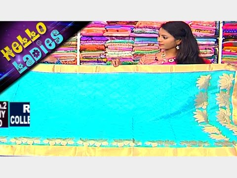 Heavy Embroidery Flower Design Pattu & Jaipur Kota Sarees || Hello Ladies || Vanitha TV
