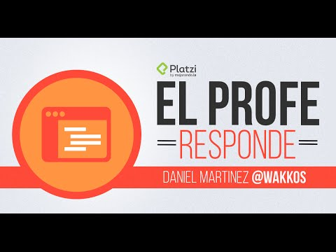 Sesi�n de preguntas y respuestas con Daniel Martinez (Wakkos) | #ProfeResponde
