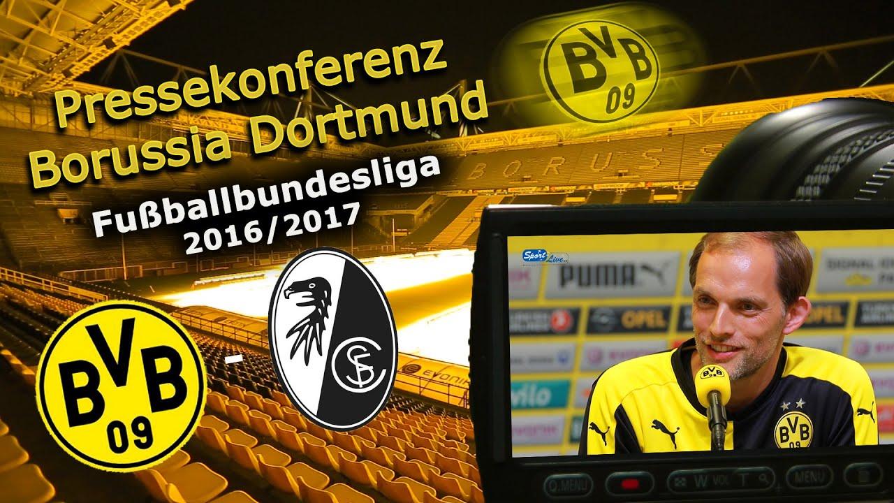 Borussia Dortmund - SC Freiburg: Pk mit Thomas Tuchel