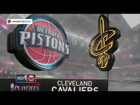 Detroit Pistons vs Cleveland Cavaliers. Game #2. Playoffs NBA 2016