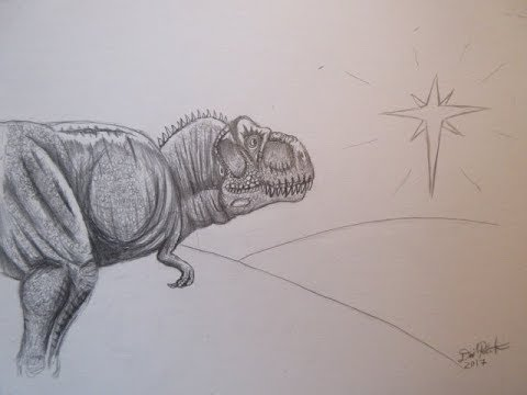 Christmas Special: How to Draw Tyrannosaurus Rex Tutorial - Danny the Dinosaur Drawer