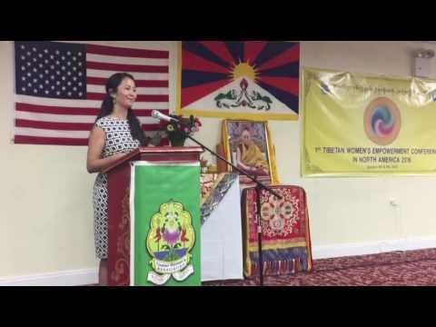 Tibetan Women's Empowerment Conference 2016- Key Speaker, Tenzin Palkyi la