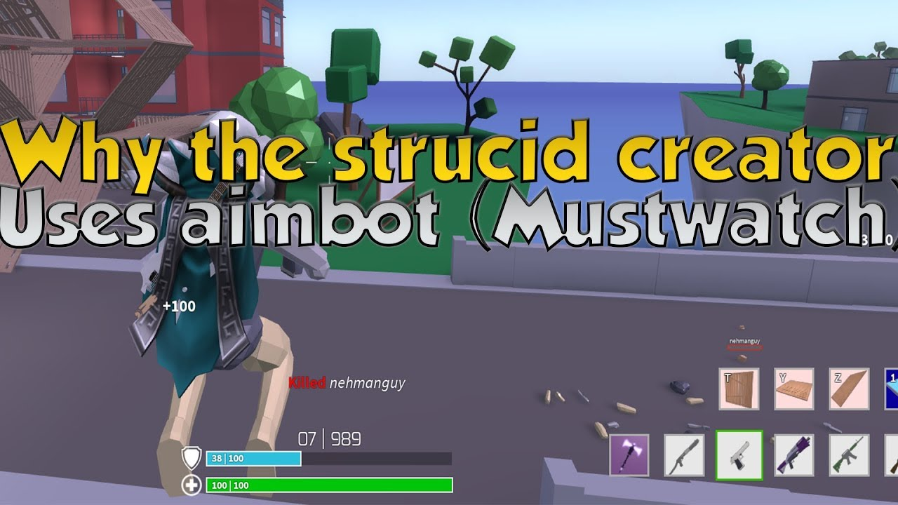 Why The Owner Of Strucid uses aimbot (must watch) - YouTube