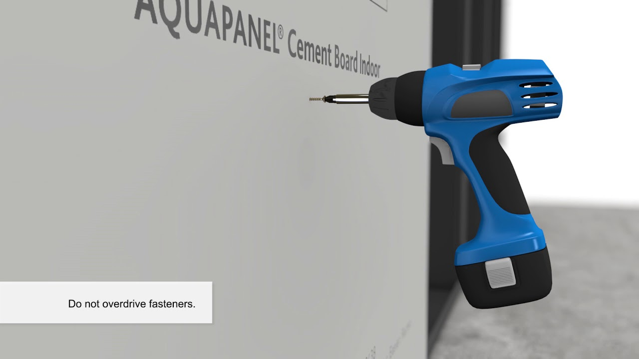 Installation Of Knauf Aquapanel 174 Cement Board Indoor Youtube