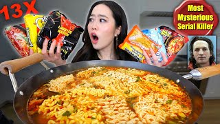 Mixing All The Most Popular Ramen Noodles Together (13 Different Flavors/Packs) MUKBANG
