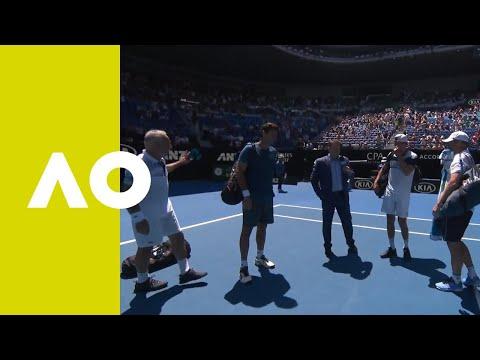 Ferreira/Ivanisevic v Bahrami/Philippoussis on-court interview (RR) | Australian Open 2019