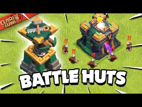 New Battle Builder Huts Explained! New Defense in Clash of Clans! - Judo Sloth Gaming