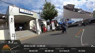 小川町駅前・埼玉県比企郡小川町にて[車載動画DS][20161126]