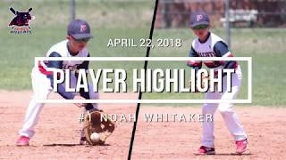 2018-04-22 TC Baseball Bash @ Dirt Devils - Defense Highlights - #1 Noah W.