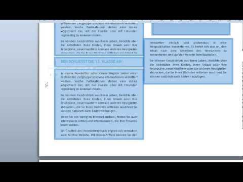 Zeitung layouten mit Word 2010 und Office-Vorlagen