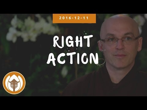 Right Action - Brother Pháp Lai - Winter Retreat - 2016.12.11