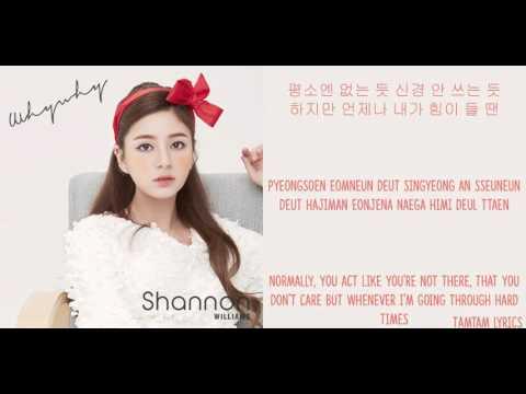 Why Why - Shannon Lyrics [Han,Rom,Eng]