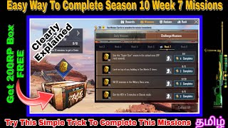 Pubg Mobile Season 10 Week 7 Missions in Tamil|Pubg Week Mission Clearly Explained|Tyson Noob Gamer|