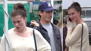 EXCLUSIVE - Ireland Baldwin And BF Jon Kasik Shop Together In Malibu