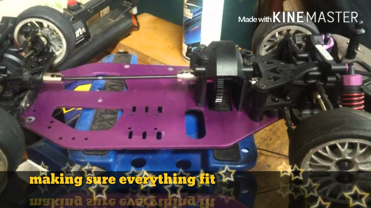 Make Your Own Car >> Hpi nitro drift RS4 converted to brushless Ready to drag race - YouTube