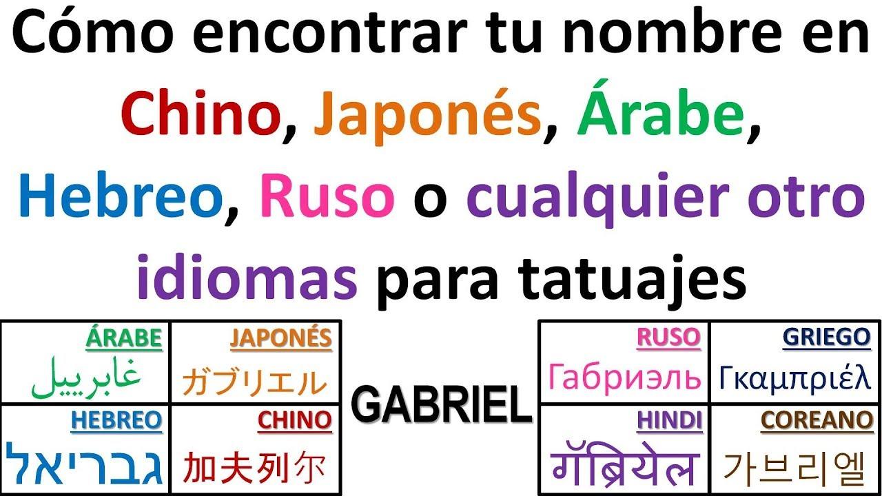 Escribe tu nombres en cualquier idioma para tatuajes YouTube