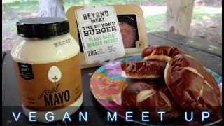 Beyond Burger & Pretzilla Buns at Vegan Meet Up