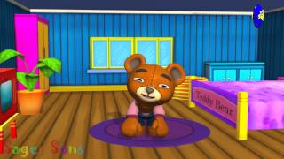 Teddy Bear Teddy Bear turn around | 3D Animation English Nursery Rhyme