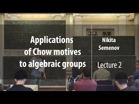 Lecture 2 | Applications Of Chow Motives To Algebraic Groups | Nikita Semenov | Лекториум