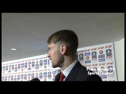 Aaron Ramsey reaction Arsenal vs Wigan