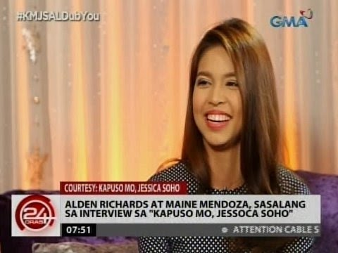 "24Oras: Alden Richards at Maine Mendoza, sasalang sa interview sa ""Kapuso Mo, Jessica Soho"""