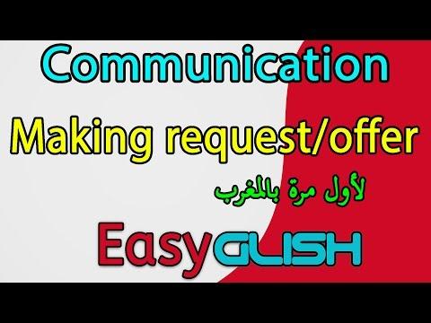 Making request / offer - communication -  شرح الدرس بالدارجة المغربية