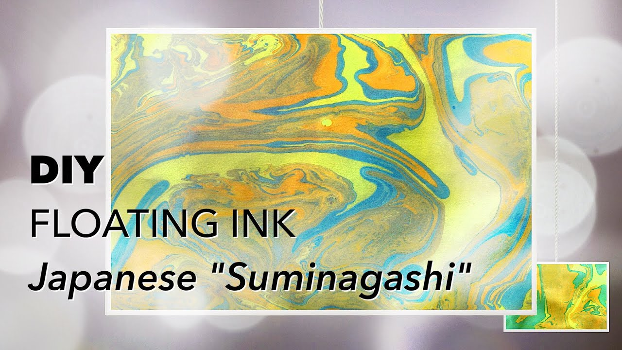 DIY | FLOATING INK | SUMINAGASHI | Kid Fun Craft - YouTube