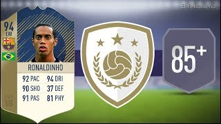 FIFA 18 Prime Icon Ronaldinho 94 SBC 85+ Squad No Loyalty