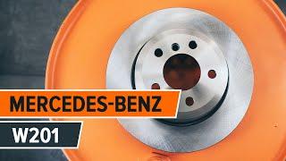 Montavimo priekyje ir gale Stabdžių trinkelių komplektas MERCEDES-BENZ 190: vaizdo pamokomis