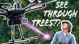 Drone LiDAR can see through trees
