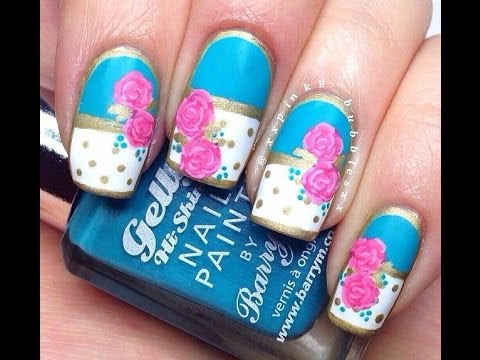 U as decoradas con esmalte primavera 2015 youtube for Decoracion de unas verano 2015