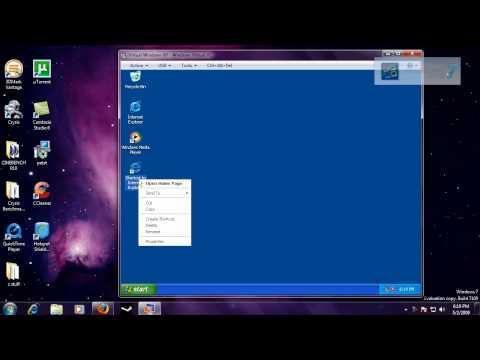 Demonstrating Windows XP Mode In Windows 7
