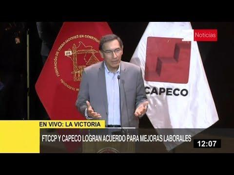 Presidente Vizcarra destaca consenso entre empresario y trabajadores en base al diálogo