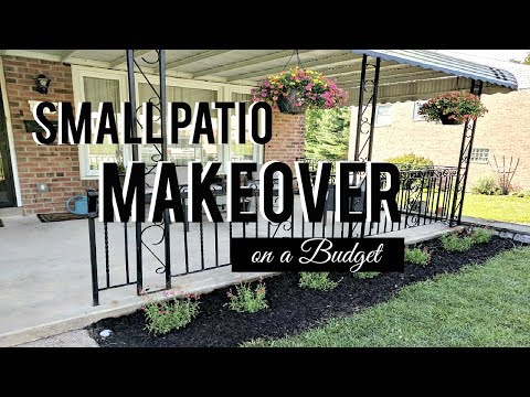 SMALL PATIO MAKEOVER on a BUDGET (Part 1) | Hip 'n Creative