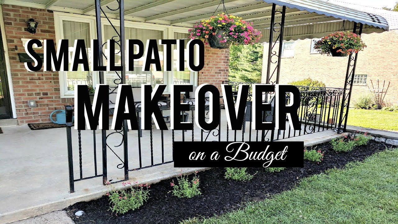 SMALL PATIO MAKEOVER on a BUDGET (Part 1) | Hip 'n ... on Patio Makeovers On A Budget id=99668