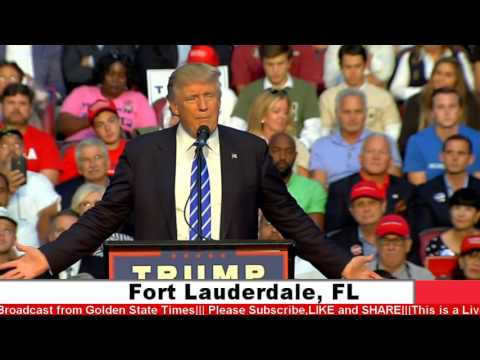 AMAZING:Donald Trump Rally from Fort Lauderdale, FL (8-10-16)