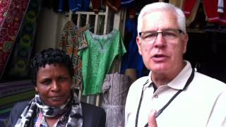 Richard Stearns with Jacqueline the CEO | World Vision