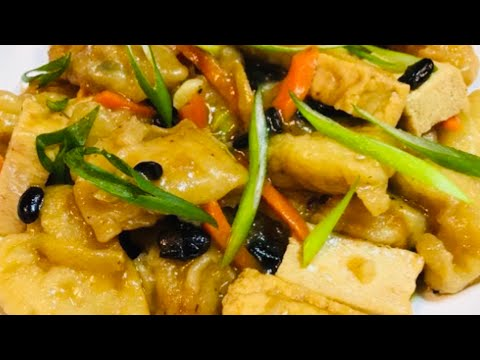 FISH & TUFO WITH BLACK BEANS Recipe