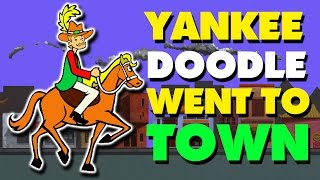 Yankee Doodle Went To Town | English Nursery Rhyme With Lyrics