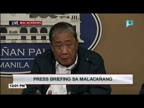 Press briefing in Malacañang on infrastructure project, November 3, 2016