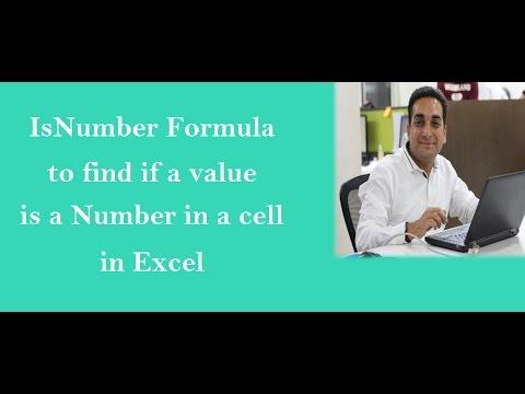 Excel: Isnumber Formual in Excel