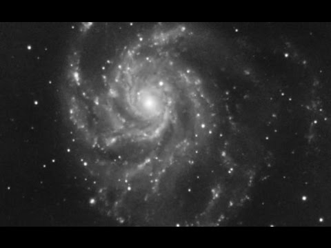 The Pinwheel Galaxy With Dithering and an LPR (ZWO mono)