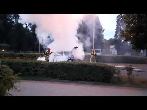 Pożar samochodu Września cz. II