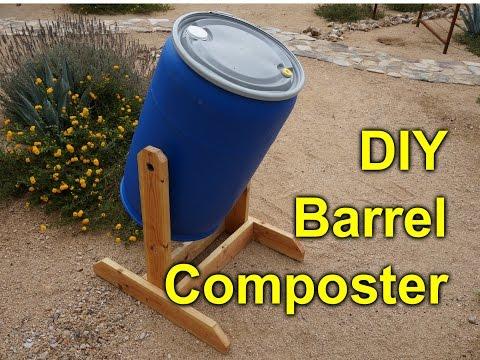DIY composter tumbler - 55 gallon barrel project