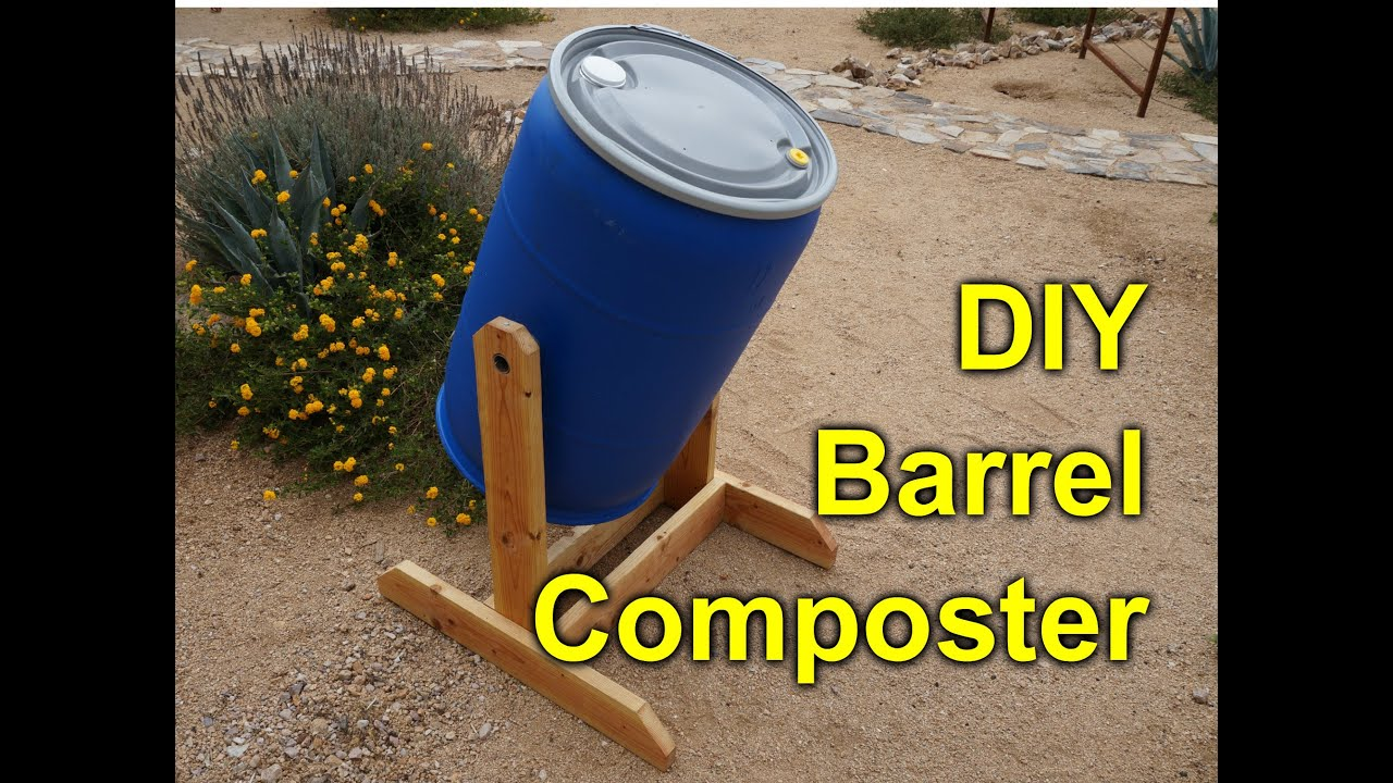 DIY composter tumbler - 55 gallon barrel project - YouTube