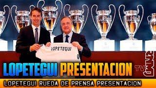PRESENTACION de LOPETEGUI nuevo entrenador del Real Madrid con Florentino Pérez (14/06/2018)